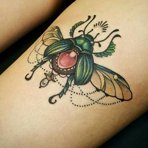 Scarab beetle #beetletattoo #scarab