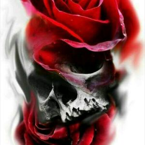 I love this! #realism #roses #skull