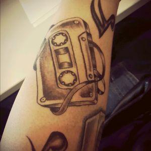 Cassette tape. #musictattoo #cassettetape