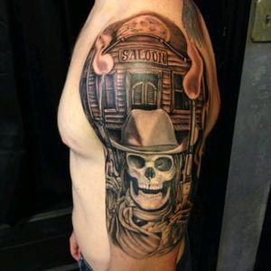 Nice western 💀#cowboy #gun #western #skull #ArtistUnknown