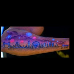 Cool smoth tattoo 😇 #glowinthedark