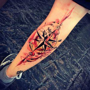 #compass #compassrose #compasstattoo  #fire #firecolour #paperplanetattoo #miamitattoo #rollercoaster  #firecolours #firetattoo