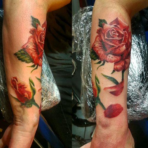 #tattooing #tattooart  #tattoo #rosestattoo #colortattoo #realistictattoo  #skinart