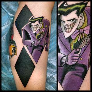 Joker #tattoo #inked #skinandink #picoftheday #inkmaster #tattoosnob #lasvegas #lasvegastattoo #veganfriendly #walkinswelcome #lasvegastattooshop #tattoos #summerlintattooartist #lasvegastattooartist #inkfusion #inkfusionempire #geektattoo #geekedouttattoos #geeksterink #geekytattoos #comicbooktattoo #nerdytattoos #nerdtattoo #dccomics #dccomicstattoo #batman #batmantattoo #joker #jokertattoo