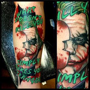 Joker Heath Ledger #tattoo #inked #skinandink #picoftheday #inkmaster #tattoosnob #lasvegas #lasvegastattoo #veganfriendly #walkinswelcome #lasvegastattooshop #tattoos #summerlintattooartist #lasvegastattooartist #inkfusion #inkfusionempire #geektattoo #geekedouttattoos #geeksterink #geekytattoos #comicbooktattoo #nerdytattoos #nerdtattoo #dccomics #dccomicstattoo #batman #batmantattoo #joker #jokertattoo #heathledger #thedarkknight