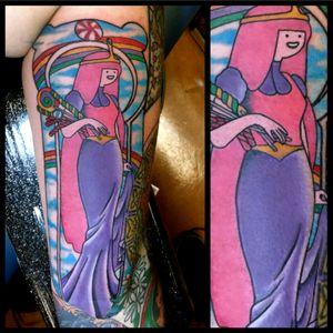 Princess Bubblegum #tattoo #inked #skinandink #picoftheday #inkmaster #tattoosnob #lasvegas #lasvegastattoo #veganfriendly #walkinswelcome #lasvegastattooshop #tattoos #summerlintattooartist #lasvegastattooartist #inkfusion #inkfusionempire #geektattoo #geekedouttattoos #geeksterink #geekytattoos #comicbooktattoo #nerdytattoos #nerdtattoo #adventuretime #adventuretimetattoo