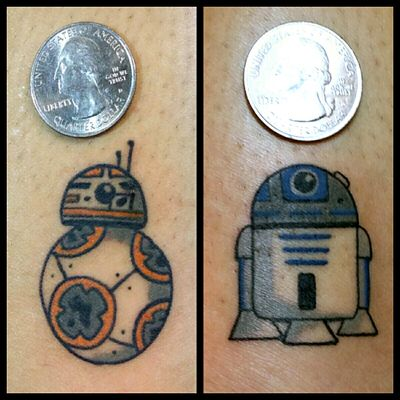 Droids #tattoo #inked #skinandink #picoftheday #inkmaster #tattoosnob #lasvegas #lasvegastattoo #veganfriendly #walkinswelcome #lasvegastattooshop #tattoos #summerlintattooartist #lasvegastattooartist #inkfusion #inkfusionempire #geektattoo #geekedouttattoos #geeksterink #geekytattoos #comicbooktattoo #nerdytattoos #nerdtattoo #bb8 #bb8tattoo #kawaii #cutetattoo #r2d2 #r2d2tattoo #starwars #starwarstattoo