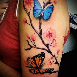 #tattooflowers #butterflytattoo #nature #naturetattoo #Butterflies #butterfly #flowers #upperarmtattoo #japaneseflower #SakuraTattoo #flowersandbutterflies #butterfliestattoo 🌸🌸🌸🌺
