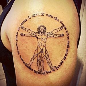 #tattoo #davinci #italian #shoulder #new #circle #real #paint