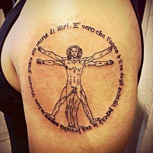 #tattoo #shoulder #davinci #real #new