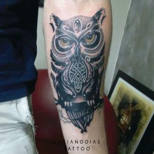 #owl #owltattoo #neotribal