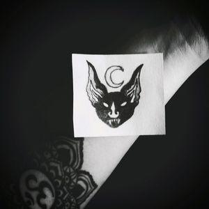 ❤Bat❤ #tete #sketch #darktattoo #dark #tattoo #tattooapprentice #apprenticetattoo #personal #tattoodesign #blackworktattoo