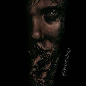 """In the dark, she prays"" #darkart #portraiture #ladyface #blackandgrey #realism #dark"
