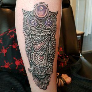 Erika's Owl.. #owl #wiseowl #blackandgrey