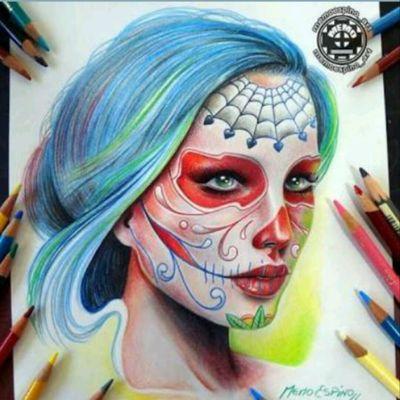#MemoEspino #Sketch #Realistic #Art #Design #Catrina #Color