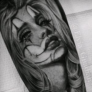 #ElviaGuardian #Chicano #ChicanoStyle #Realism #Portrait #BlackandGrey #LadyHead #Payasa #Chola #Thug