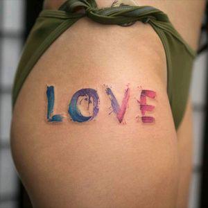 By #GeorgiaGrey #love #lettering #watercolor #watercolortattoo