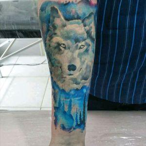#art #arte #brasil #watercolor #watercolortattoos #ink #inked #inkart #wolftattoo #wolftattoowatercolor
