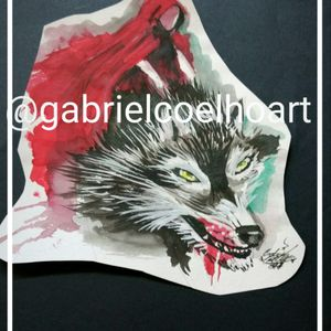 #watercolor  #watercolortattoo  #tatuagem #tatuagemfeminina  #tatuagemaquarela #wolf #wolftattoo