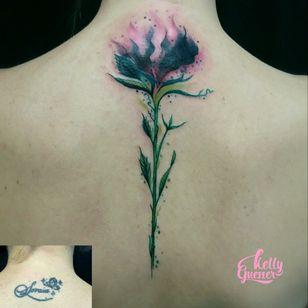 #coveruptattoo #coverup #cobertura #flowerwatercolor #floraquarela #tatuagensfemininas #tatuagensdelicadas #kellyguesser #tatuadora #tatuadorabrasil