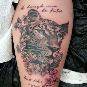 #leopardhead #leopardtattoo #redroomtattoo #alexandrahesse