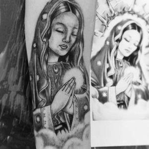 Tattoo santa em progresso