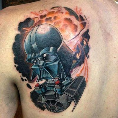 Amazing Darth Vader by @painfulremunders #darthvader #starwars #nerd #geek #comics #newschool #movies #filmes #painfulreminders