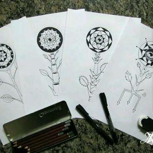 #flowers #tattoodrawing #tattoosketch #blackworktattoo