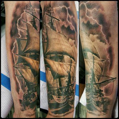 #schooner #tallship #sailing #sailingship #nautical #nauticaltattoo #pirate #piratetattoo #eastcoast #newfoundland