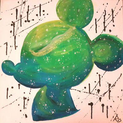 Acryl mickey mouse painting #acrylpainting #art #painting #mickeymouse #disney