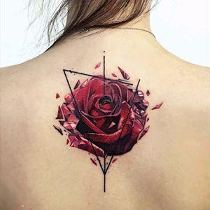 By #VladTokmenin #rose #flower #rosetattoo #abstract
