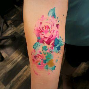 #watercolor #watercolortattoo #rose #rosetattoo #rosetattoos #roses