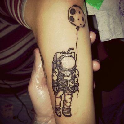 #space #astronaut #rock #chrisbergmanntattoartist
