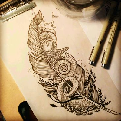 #ocean #sealife #feather