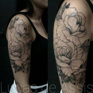 🌷Rosas🌹 #tattoo #tatuagem #tatuaje #portoalegre #roses #rosas #blackwork #rosestattoo