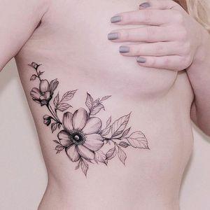 By #DianaSeverinenko #flower #botanical #floral #flowers #blackwork