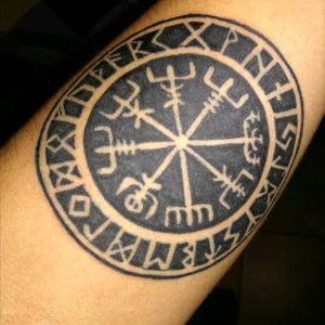 #Forearm #vikingtattoo #firsttattoo #vegvisir #vikingcompass