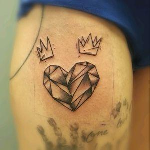 #blackwork #geometric #heart #tattoo
