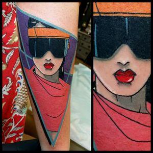 80's #tattoo #inked #skinandink #picoftheday #inkmaster #tattoosnob #lasvegas #lasvegastattoo #veganfriendly #walkinswelcome #lasvegastattooshop #80sbabe #80stattoo #nagel #neon #patricknagel