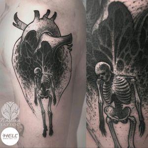 Skeleton in heart.. #darktattoo #darkartist #blackwork #blackworkers #blackandgrey #skeletontattoo #hearttattoo #hangman #nayanatattoo #hellcz #czechtattooartist #ilovemywork #welove Follow my work on fb / insta / tattoodo 👉 @nayanatattoo