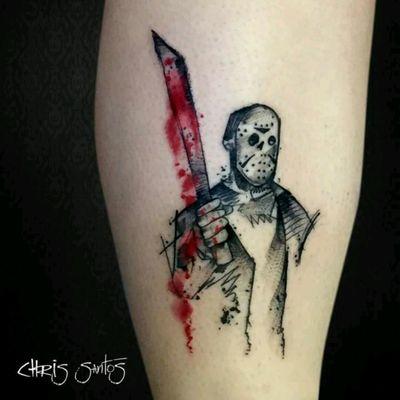 Amazing Jason Voorhees by Chris Santos. #jasonvoorhees #friday13 #terror #horror #movies #ChrisSantos #tatuadoresdobrasil