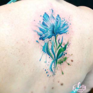 #flowerwatercolor #flower #watercolor #watercolortattoo #tatuagensfemininas #tatuagemaquarela #tatuagemcolorida #kellyguesser