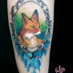 #fox #foxtattoo #femaletattooartist #femaletattoo #kellyguesser #tatuagensfemininas #tatuagensdelicadas #tatuadora #tatuadoresdobrasil #aquarela #tatuagemaquarela #watercolor #watercolortattoo #foxwatercolor