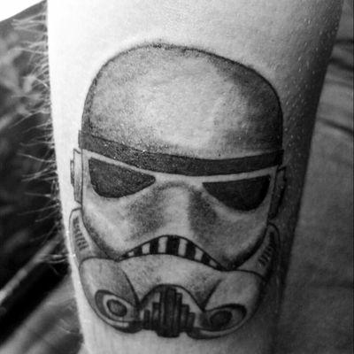 #stormtrooper #starwars #darkforce #blackworktattoo #blackandgrey