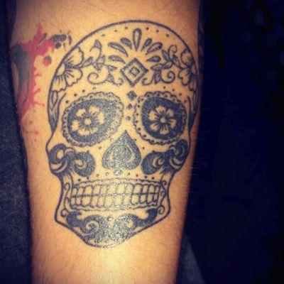 #skull #sugarskull #mexicantattoo #blackwork #mexicanskull