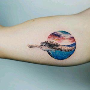 By #Nando #turtle #ocean #sea #nature
