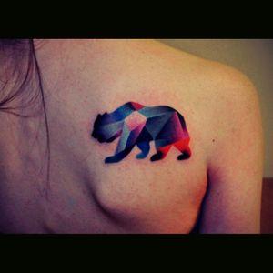 #bear #Geometrical #colours