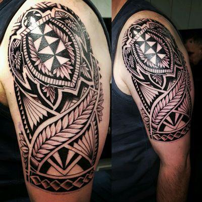 Polynesian maori style design by Sean at www.adventuretattoos.com #polynesian #maoritattoo #native #polynesiantattoo #maori #tribaltattoo #tribaldesign #maoridesign #adventuretattoos #adventuretattoo #keighley #tattoo #inkedadventure #SeanMilnes #sleevetattoo