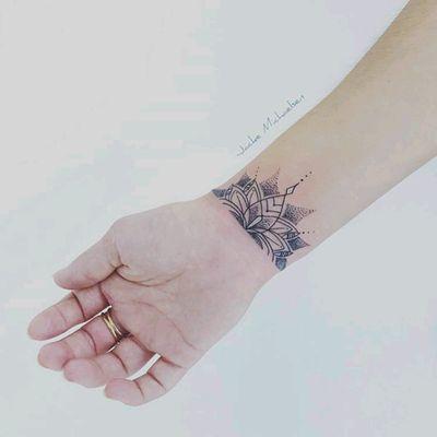 By #JackeMichaelsen #lotus #Bracelet #wristtattoo #lotusflower