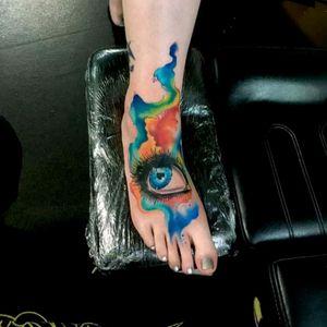Tattoo by Sandro Secchin #tattoodo #TattoodoApp #tattoodoBR #aquarela #watercolor #olho #eye #tatuadoresdobrasil #SandroSecchin